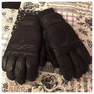 Men's XL Grandoe cashmere lined black gloves